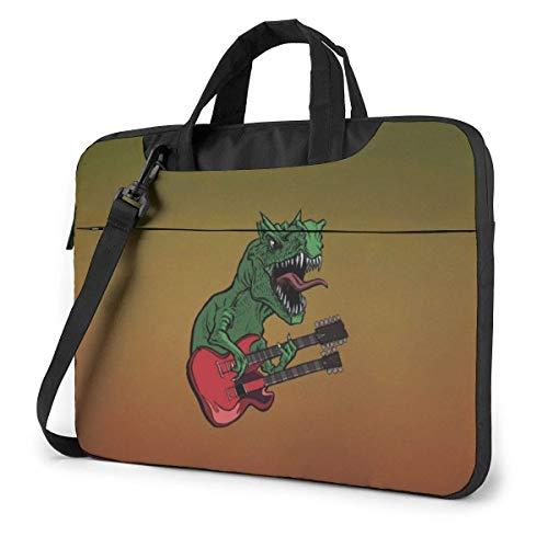 QUEMIN Estuche para computadora portátil con guitarra eléctrica de dinosaurios con correas...