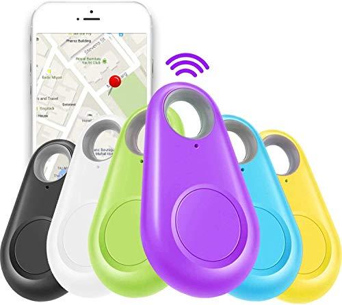 Anks Online 2Pc Smart Key Finder Locator GPS Tracking Device for Kids Boys Girls Pets Cat Dog Keychain Wallet Luggage Anti-Lost Alarm Reminder Selfie Shutter