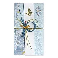 (まとめ買い)菅公工業 金封 婚礼用 もみ紙金封 ブルー キ934 【×10】