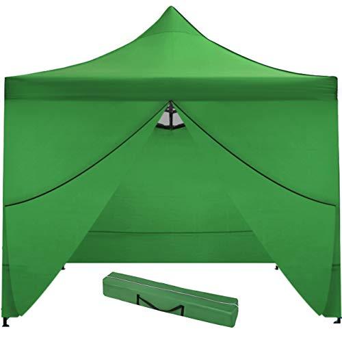 MT MALATEC Faltpavillon Faltzelt 3x3m Partyzelt Gartenpavillon UV 30 WASSERDICHT 9920, Farbe:Grün