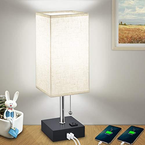 USB Bedside Table Lamps for Bedr...