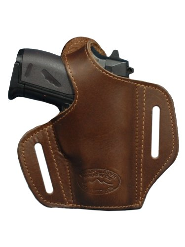 Barsony Brown Leather Pancake Gun Holster for Beretta Jetfire Bobcat Right
