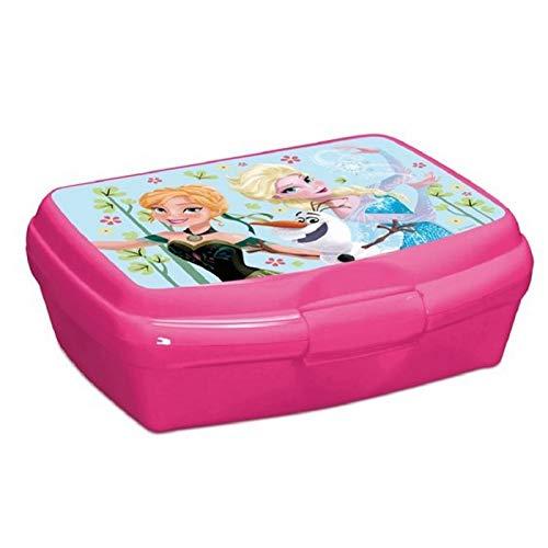 Disney Brotdose, kompatibel Eiskönigin Frozen, Lunchbox Anna ELSA und Olaf rosa | Brotzeit | Kita | Brotbox | Sandwichbox | Geschenk |