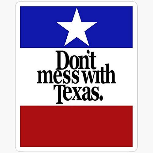 WillettaStore Aufkleber Don't Mess with Texas, 3 Stück