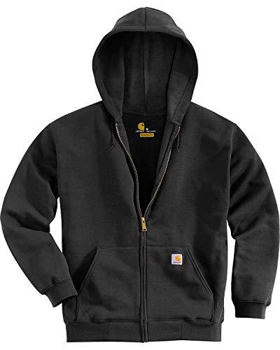 Carhartt K122 Sweatshirt à capuche avec fermeture Éclair avant , noir , M