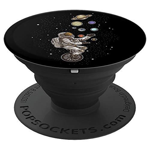 Astronaut jongliert Planeten auf einem Einrad - Raumfahrer - PopSockets Ausziehbarer Sockel und Griff für Smartphones und Tablets