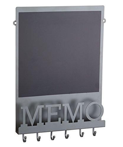 KitchenCraft LNMEMO Living Nostalgia Memo-Board, Magnet-/Kreidetafel, grau/schwarz, 43,5x 30cm Metall schwarz