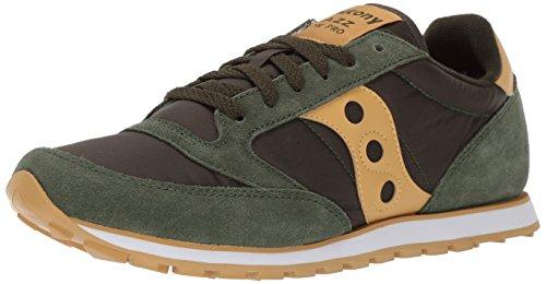 Saucony Jazz Low PRO, Sneaker Uomo, Verde (Dark Green/Gold), 42.5 EU
