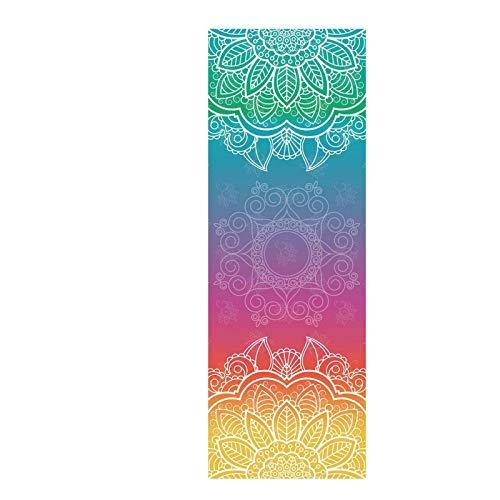 Yhjkvl Toalla de yoga MatDiamond de tela de yoga, toalla de yoga, toalla de lujo, tapete de yoga, toalla deportiva, antideslizante (tamaño: 63 x 183 cm; color: A)