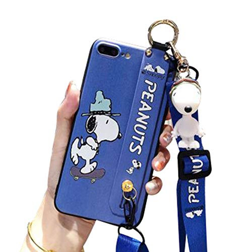 ZJL Hülle Für iPhone 11 Pro Max Silikon Hülle Handyhülle Für iPhone 11 Pro Kratzfest Ultra Dünn Hülle Sanft TPU Anti-Fall Bumper Hülle Mit Lanyard, Ornamente, Halterung,BlueA-iPhone11promax