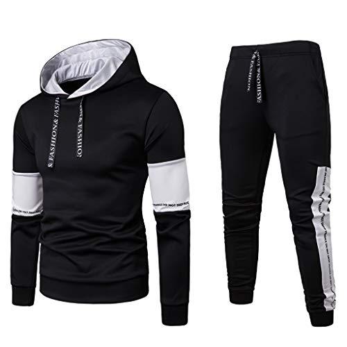 WEEN CHARM Mens Suits 2 Button Slim Fit 3 Pieces Suit Black