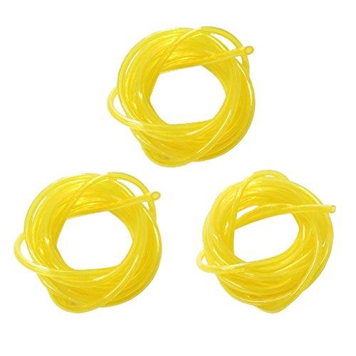 Amuzocity Manguera de Línea de Combustible Tygon de Repuesto para Pies, Tubería Amarilla, Línea de Gas, 3 Tamaños