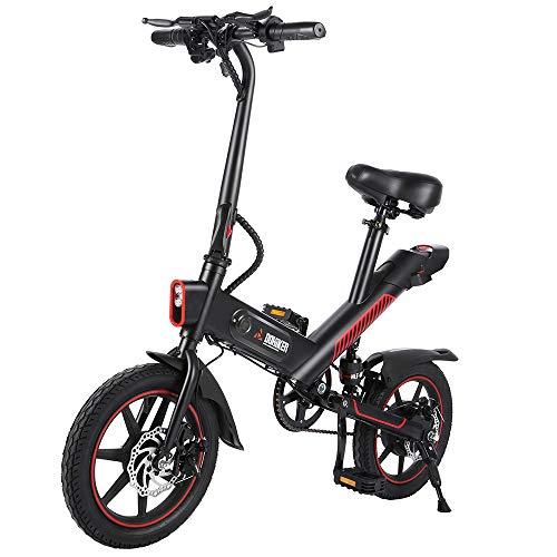 Bicicletta elettrica Pieghevole, Motore per Bici elettrica da 350 W, Pneumatici da 14 Pollici per Mountain Bike, Regolazione della modalità a 3 velocità, Ammortizzatore Centrale, Bicicletta elettrica