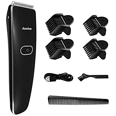 Hair Clippers for Men Cordless Hair Beard Trimmers Cutting Machine, Professional Mens Hair Clippers USB Rechargeable Electric Haircut Kit with Stainless Steel Blades Easy to Use for Men, Kids, Family from Aesfee