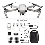 DJI - Mavic Pro Fly More Combo Platinum (Version UE) | Incl. 1 Drone Quadricoptère, 3 Batteries de Vol Intelligente, 1 Radiocommande, 1 Chargeur Voiture &...