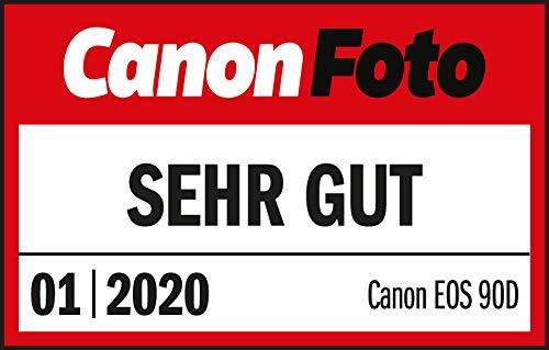 Canon EOS 90D Spiegelreflexkamera Gehäuse Body (32,5 Megapixel, 7,7 cm (3 Zoll), Bluetooth, Vari-Angle Touch Display, APS-C Sensor, 4k, Full-HD, DIGIC 8, WLAN), schwarz