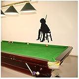 Autocollant de billard en vinyle pour snooker 58 x 100 cm