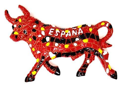 SP2 España Torero Imán de refrigerador Etiqueta magnética España Diseño aleatorio Imán de refrigerador Toro español Imán de nevera 3D Insignia magnética Toros Imán de nevera español