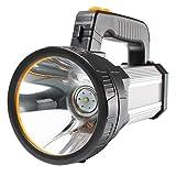 AF-WAN Troch Lampe torche LED rechargeable super lumineuse 7000 lumens 9000 mAh étanche 6 modes d'éclairage Lampe torche LED portable avec batterie externe Argenté