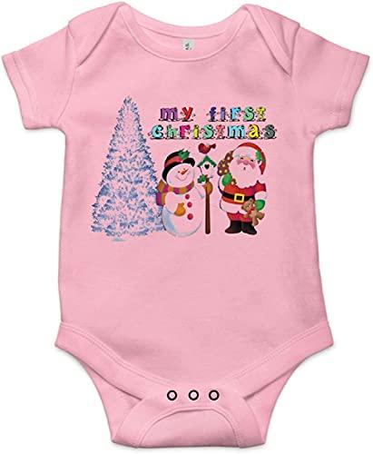 Toll2452 Dziecięcy śpioszki My First Christmas święta prezent dla niemowląt body niemowlęcia koszulka świąteczna