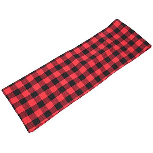 Toasses 210x35cm röd svart plaid mönster bord löpare bordsduk julbord dekorationer heminredning