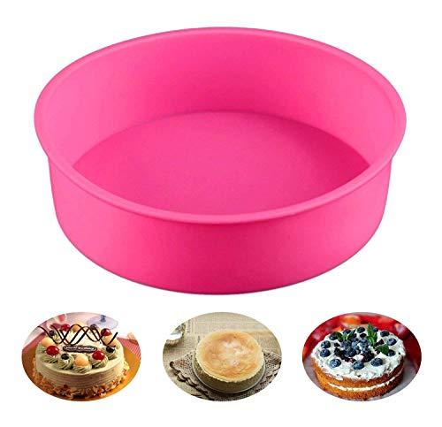Somtis Moule en Silicone à gâteau Rond 22,9 cm Moule à gâteau, sans BPA, antiadhésif European-Grade Coque en Silicone, 6 cm de Profondeur