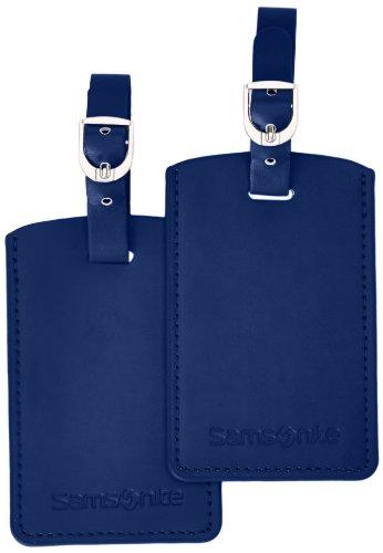 Samsonite Travel Accessor. V - Rect.Bag Tag (Set of 2) Gepäckanhänger, Indigo Blue
