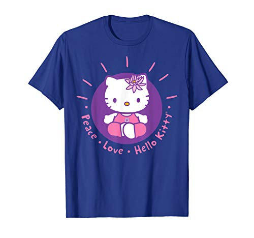 Hello Kitty Yoga Peace Love Lotus Meditation T-Shirt