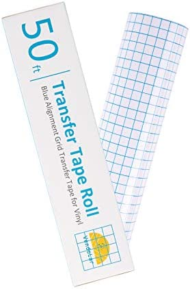 Vendolar Vinyl Transfer Paper Tape Roll 12in x 50ft Clear w Alignment Grid Transfer Tape Design product image