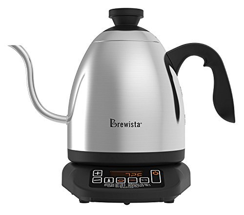 Brewista SmartPour Wasserkocher mit Schwanenhals und Temperaturwahl für gleichmäßigen Aufguss- 1.2L