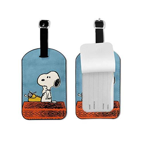 S-No-Opy Etiquetas de equipaje Etiquetas de equipaje de viaje Etiquetas de maleta Etiquetas de tarjeta de visita para viaje de negocios etiqueta de equipaje de microfibra PU cuero 2.7* 4.3 pulgadas