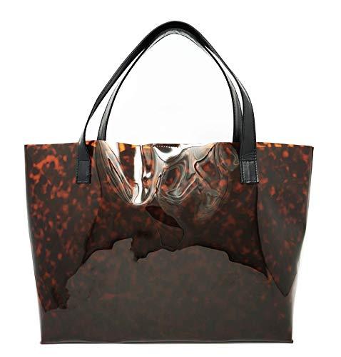 Tortoise Shell Tote Bag Travel Purse Translucent Leopard
