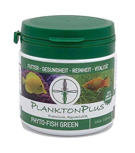 PlanktonPlus Aquaristik Phyto-Fish Green Granulatfutter für Zierfische Fische Garnelen Meerwasser und Süßwasser Aquarium (150ml)
