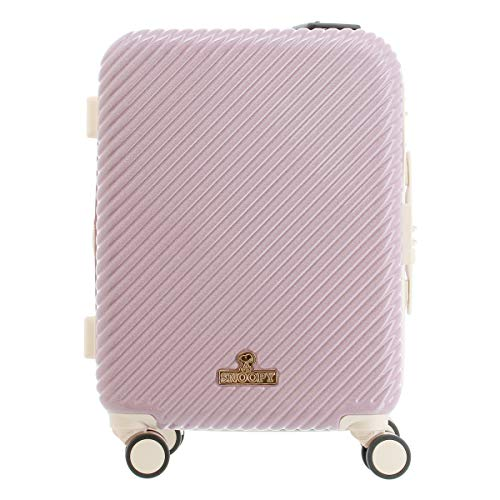 [ピーナッツ] スーツケース 39L 46cm 3.4kg PN-028 PEANUTS ハード ファスナー キャリーケース TSAロック搭載 エキスパンダブル 拡張 キャラクター スヌーピー ピンク