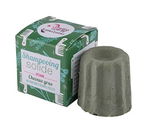 Lamazuna Shampooing solide en herbes sauvages pour cheveux gras 1 pièce 60 g