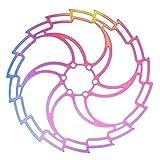 Rotore del freno a disco per bicicletta con 6 perni 160mm 180mm 203mm Rotore del freno MTB Rotore del freno a disco Colore acciaio inossidabile Accessori per biciclette per bici da strada MTB, BMX