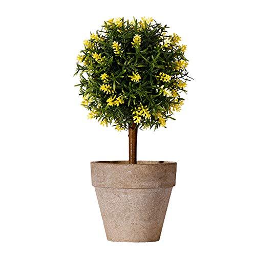 Rysmliuhan Shop Künstliche Pflanze Zimmerpflanzen Pflanzen im Freien Topfpflanze Innen Zimmerpflanzen Küchendekoration Topfpflanzen im Freien Künstliche Pflanzen Yellow