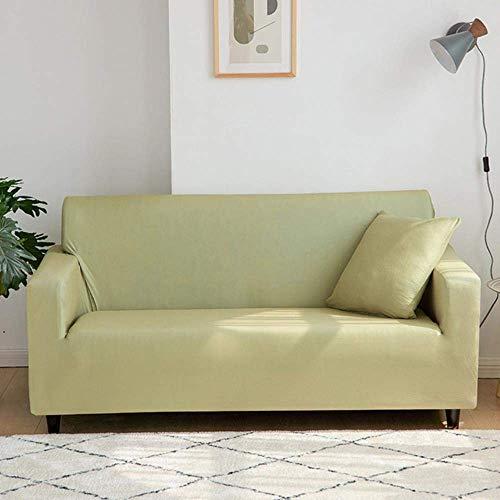 FFAN Nordic Pink Sofabezug Elastic Universal Sectional Stretch Couchbezüge für Wohnzimmer Schonbezüge Sofas Single Loveseat Bezug, Senfgrün, 3-Sitzer