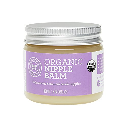 The Honest Company Organic Nipple Balm   USDA Certified Organic   Hypoallergenic   Paraben Free   Shea Butter & Tamanu Oils   Safe for Nursing Moms   1.8 Ounces