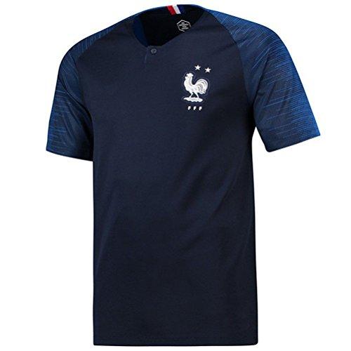 Maillots de Football de France Soccer Jersey 2018 Homeland Extérieur,Black,L