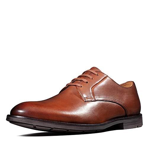 Clarks Ronnie Walk, Zapatos de Cordones Derby, Marrón (British Tan Lea British Tan Lea), 43 EU