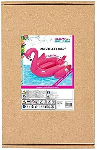 Alert XL Riesen Flamingo Party Lounge Badeinsel Pool Liege Luftmatratze   240cm