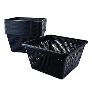 Pisces Pond Square Planting Basket 23 x 23 x 13cm -12 Pack