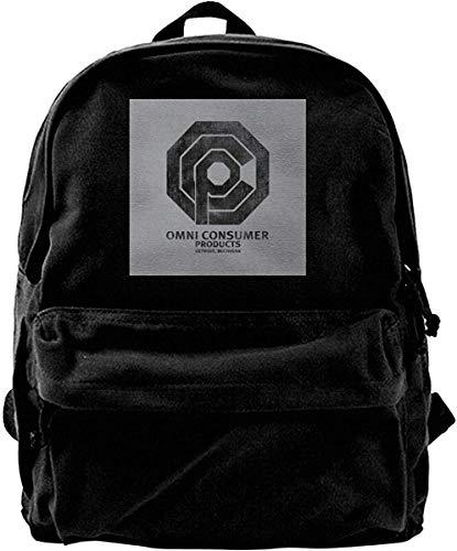 Homebe Mochila antirrobo Impermeable,Canvas Backpack Omni Consumer Products Robocop Rucksack Gym Hiking Laptop Shoulder Bag Daypack for Men Women