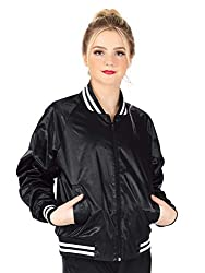Dance Department Womens Satin Dance Bomber Jacket D3048