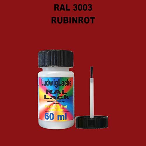 60 ml Lackstift mit Pinsel im Farbton RAL 3003 Rubinrot