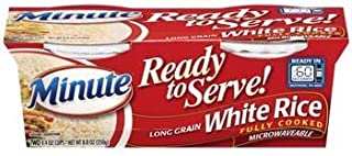 Minute Ready to Serve Long Grain White Rice 2 - 4.4 Oz Cups (Pack of 4)