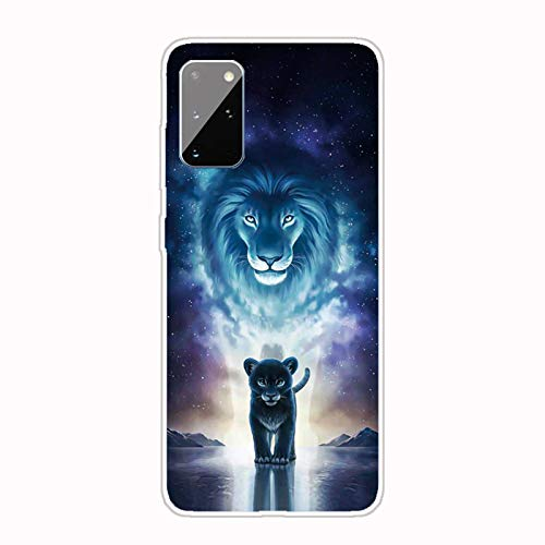 AChris Case Cover Transparent Compatible with Samsung Galaxy S21 Ultra Flexible Slim Clear Silicone Ultra Thin Anti-Scratch TPU Cover Case with Pattern for Samsung Galaxy S21 Ultra, The Lion King