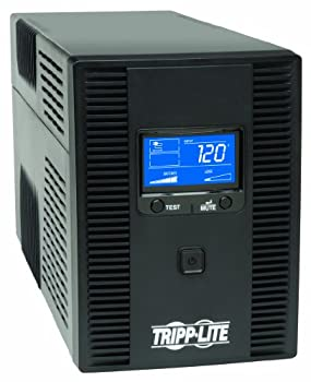 Tripp Lite SMART1500LCDT 1500VA 900W UPS Battery Back Up AVR LCD Display Line-Interactive 10 Outlets 120V USB Tel & Coax Protection 3 Year Warranty & Dollar 250,000 Insurance Black