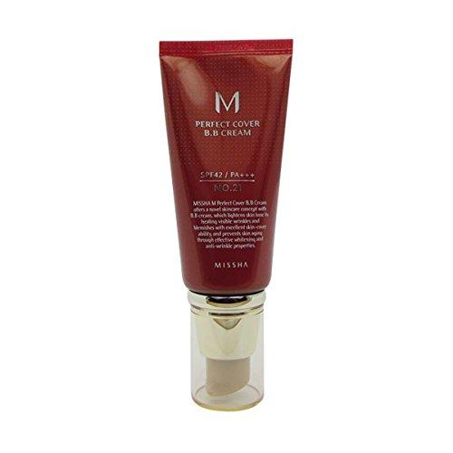 Missha M Perfect Cover Bb Cream Spf 42/pa+++ No.21 Light Beige 50ml